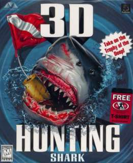 3D Hunting Shark + Manual PC CD deep sea hunting game