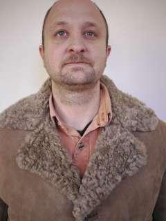 SHEEPSKIN Malboro Style Curly SHEARLING Mens SUEDE Jacket COAT