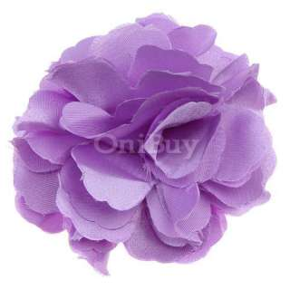 Lot Satin Peony Flower Wedding Crafts Clips Brooch Pin
