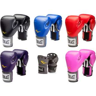 EVERLAST PRO STYLE TRAINING GLOVES w/ QUICKWRAPS boxing