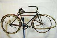 30s Motorbike style bicycle bike blue red 28 wooden rims