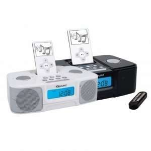 Digital Alarm Clock Radio w/iPod Docking Station  Black Electronics