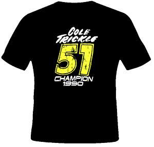 Cole Trickle Days Of Thunder Movie T Shirt