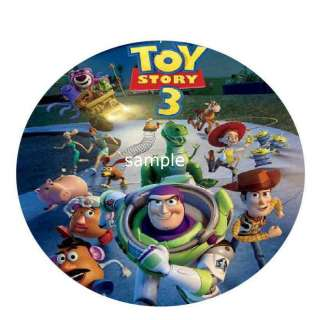 Toy Story 3 edible cake image topper  Round
