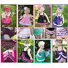 New Girl Baby Ruffle Top+Pants S0 3Y Bloomers Nappy Cover Clothes