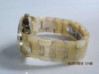 AK Anne Klein 10/9380 Womens Swarovski Crystal Goldtone Horn Plastic