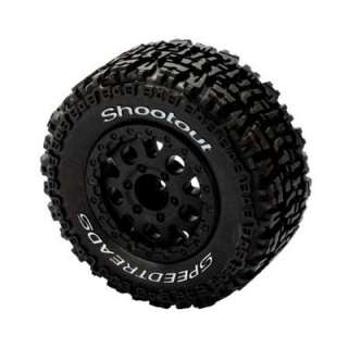 Electrix RC Mounted Wheel/Tire (Speedtreads, Shootout 1pair Torment