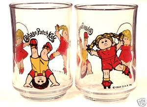 Unused 1984 CABBAGE PATCH KIDS Drinking Glasses, Cute