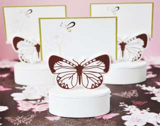 Wooden Butterfly Wedding Favor Boxes Place Card Holders
