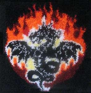 Fire Dragon 24X24 Latch Hook Kit