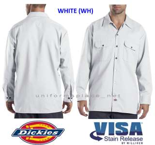 Dickies Men LONG SLEEVE Work Shirt Nwt 574 S 4XL WHITE