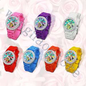 Series Classic Silicone Crystal Lady Jelly Watch Gifts Stylish Fashion
