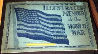 ILLUSTRATED MEMOIR OF THE WORLD WAR,BOOK WW1 RARE!