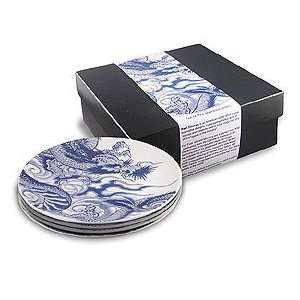Ink Dish Irezumi Side Plate Gift Set of 4  Kitchen
