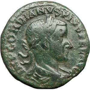 III 241AD Viminacium Genuine Ancient Roman Coin City goddess BULL LION