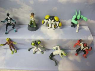 Ben 10 Complete Set of 8 Mini Detailed Toys These are great for