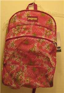 NEW JANSPORT Mesh Backpack NWT Daypack Gym Bag Nice NR