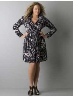 LANE BRYANT   Animal print wrap dress