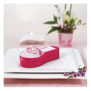 Asian Pink Brocade Slipper Favor Box Everything Else