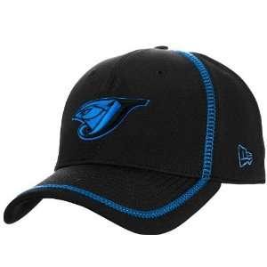 New Era Toronto Blue Jays Black Microfiber Stretch Fit Hat