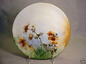 HAND PAINTED CAINES STUDIO FRENCH FLORAL ROSES? PLATE
