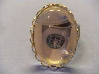 Starbucks Coffee Ring drink bottle,altered art,ooak