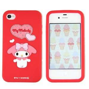 Hello Kitty Silicon Case Cover for Apple Iphone 4 4gs Red My Melody