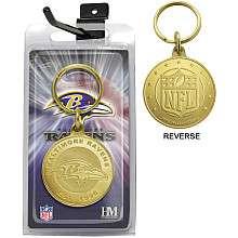 Highland Mint Baltimore Ravens Bronze Coin Keychain