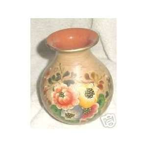 Los Diguer Pottery Vase with Flowers Design