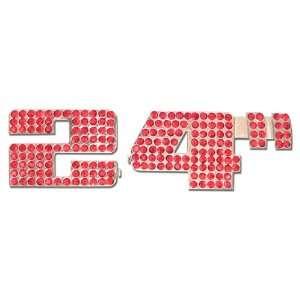 Restyling 62 0404 Red Glass Diamond 24 Chrome Emblem Automotive