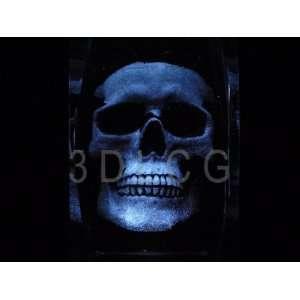 Human Skull 3D Laser Etched Crystal