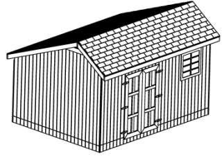 roof style salt box size 12 x 16 peak height 135 door opening width 60