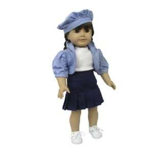 American Girl Doll Clothes Navy Blue Skirt Outfit Toys & Games