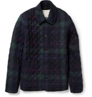 Coats and jackets  Winter coats  Quilted Plaid Wool Blend Jacket
