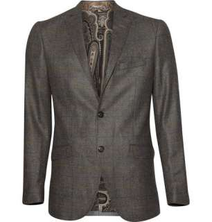 Clothing  Blazers  Single breasted  Plaid Cashmere