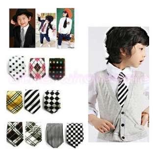 Toddler School Boy Girl Kids Child Wedding Party Tuxedo Elastic Tie