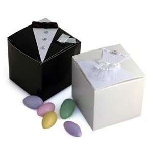 Bride/Groom Wedding Favor Boxes   Set of 12 Health & Personal Care