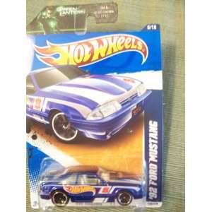 Hot Wheels 2011 HW Racing 92 Ford Mustang on Green