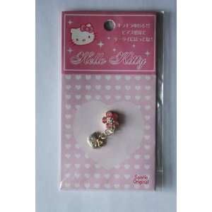Hello Kitty Cell Phone Charm for iPhone iPod home button