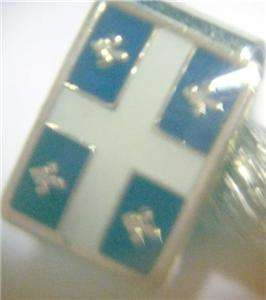 Flags of Quebec Cribbage Board Pegs Enamel on Brass