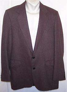 WESTERN PURPLE Wool Blend TWEED sport coat suit blazer jacket men