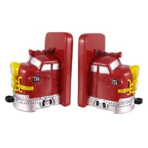 Red Modern Train Engine Bookends Book Ends Home & Kitchen
