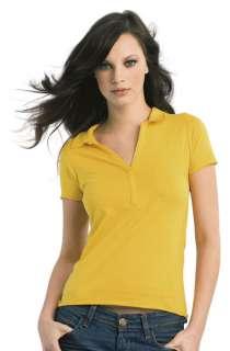 Damen Polo T Shirt Poloshirt Shirt XS S M L XL