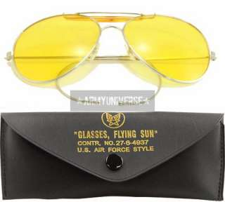 Military US Air Force Aviator Sunglasses With Case