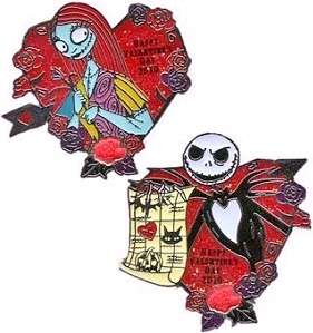 Disney Valentines Day LE Pin Set Nightmare JACK & SALLY