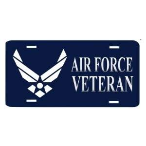 USAF US Air Force Veteran License Plate Automotive