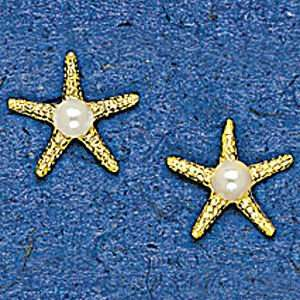 Mark Edwards 14K Gold Starfish Earring