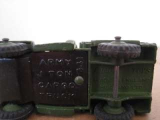 DINKY TOYS ARMY 1 TON CARGO TRUCK 641 DIECAST METAL CAR IN EXC+ COND