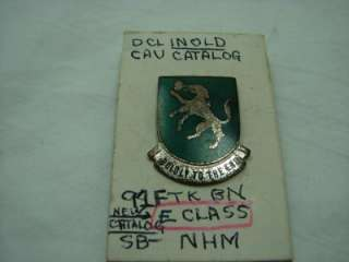 748th Tank Battalion Pin ,DI DUI Crest BOLDLY TO THE END RARE PIN