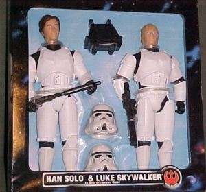12 MISB Star Wars LUKE & HAN SOLO STORMTROOPER 2pk SET
